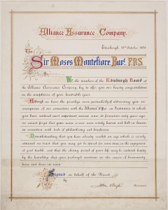 Alliance Assurance Company - Edinburgh (from the Montefiore Collections)