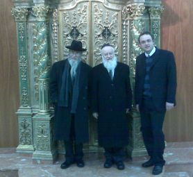 Dayan Basri with Dayan Amor and Rabbi Abel in Jersualem